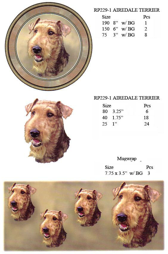 RP229-1 AIREDALE TERRIER