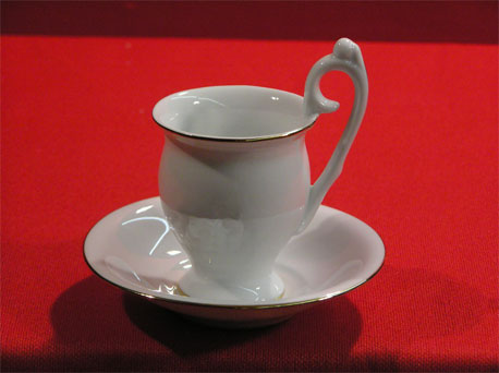 "TD0145-4.5"" - CUP WITH SAUCER"