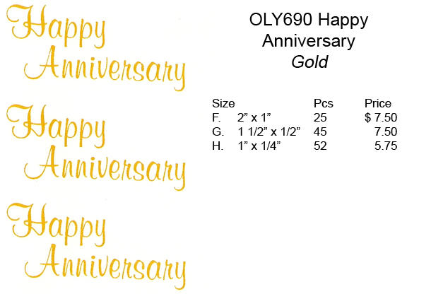 OLY690 Happy Aniversary